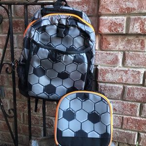 NWT Children's Place soccer backpack lunchbox